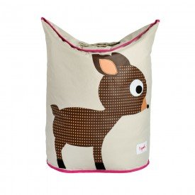 3sprouts laundry hamper deer closed
