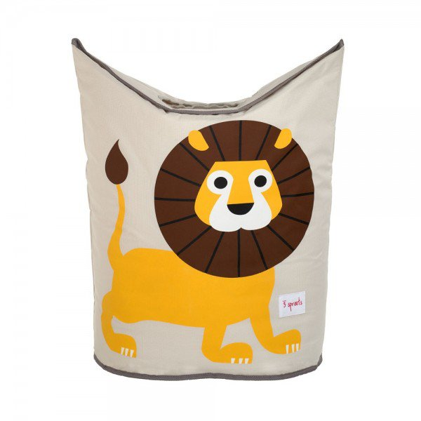 3sprouts laundry hamper lion closed
