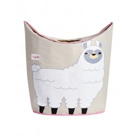 3sprouts laundry hamper llama closed