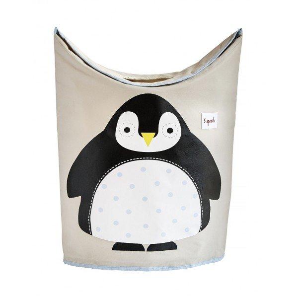 3sprouts laundry hamper penguin closed