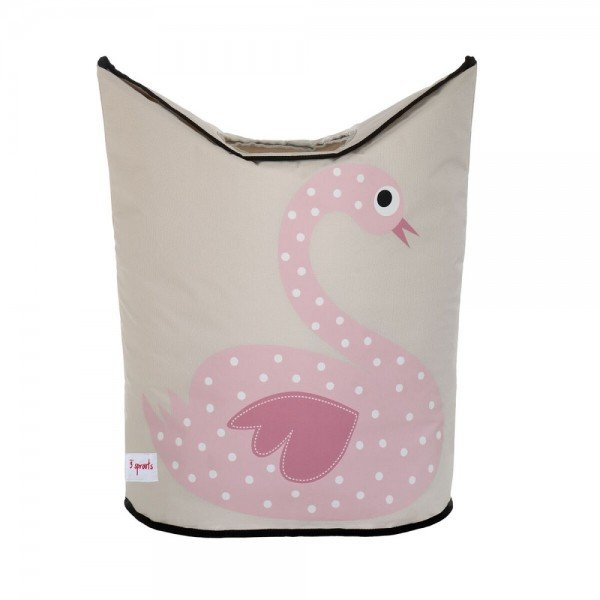 3sprouts laundry hamper swan closed