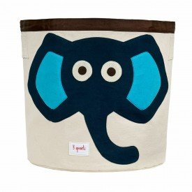3sprouts storage bin elephant blue