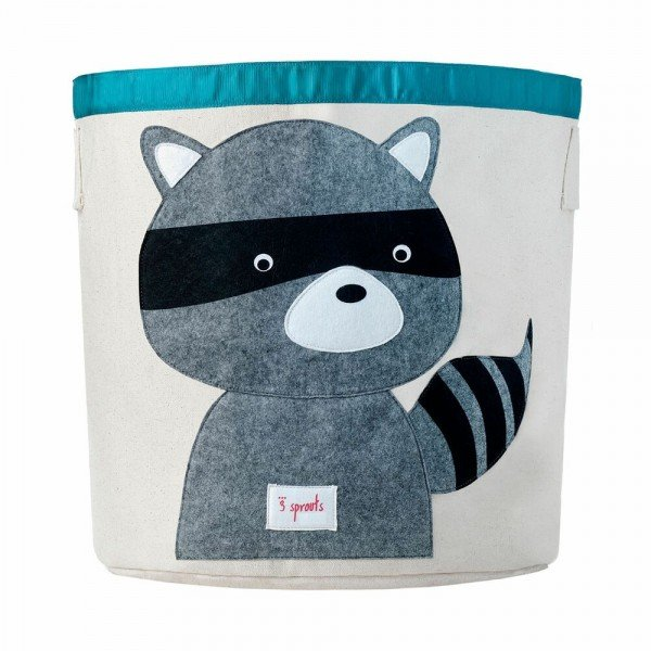 3sprouts storage bin raccoon