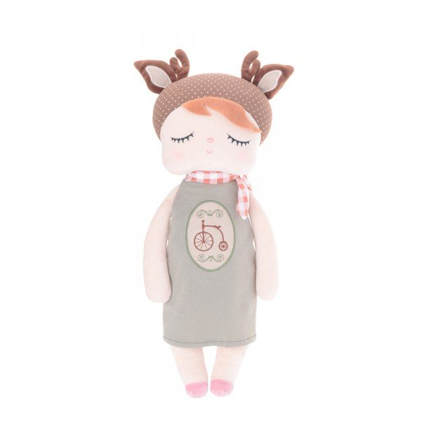 boneca metoo angela doceira retro deer marrom 33cm 1
