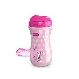 copo brilha no escuro rosa