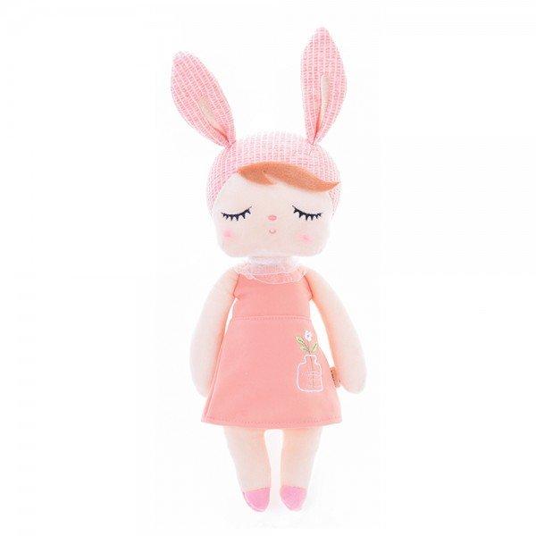 boneca metoo angela jardineira rosa salmao 33cm 1