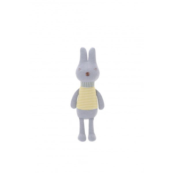 pelucia metoo coelho bunny retro listras cinza