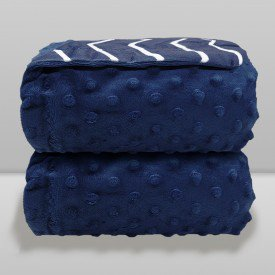 manta donna bebe dots e chevron azul navy