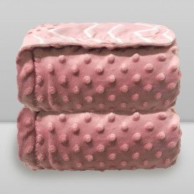 manta donna bebe dots e chevron rosa