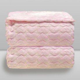manta donna laco bebe hearts relevo rosa baby