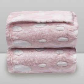 manta donna laco bebe nuvens relevo rosa