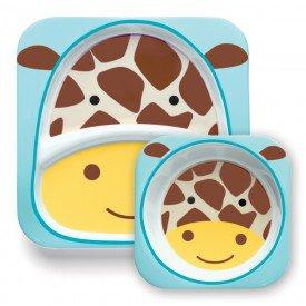 a 02 015 set de pratos zoo girafa 2