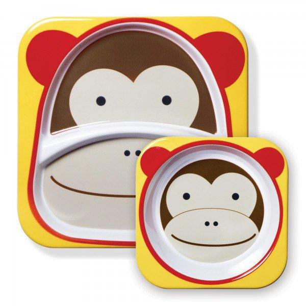 a 02 004 set de pratos zoo macaco 3