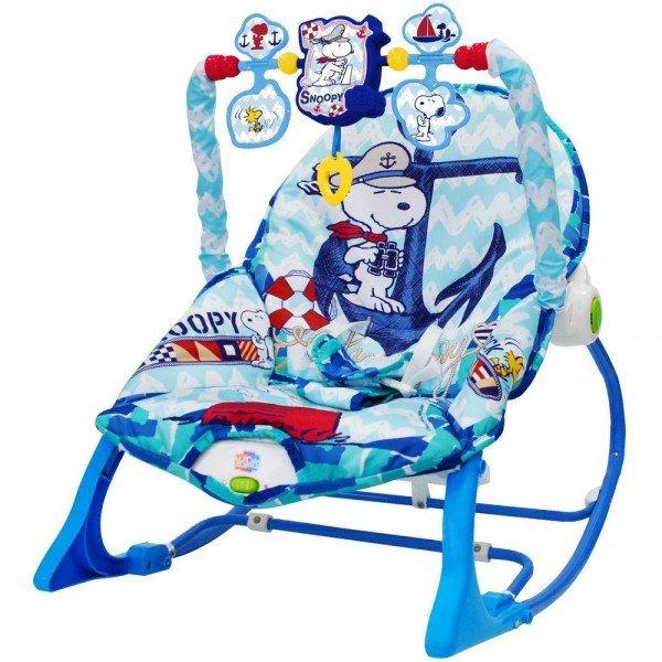 cadeira de balanco snoopy peanuts azul com som yestoys 20128 1501263725