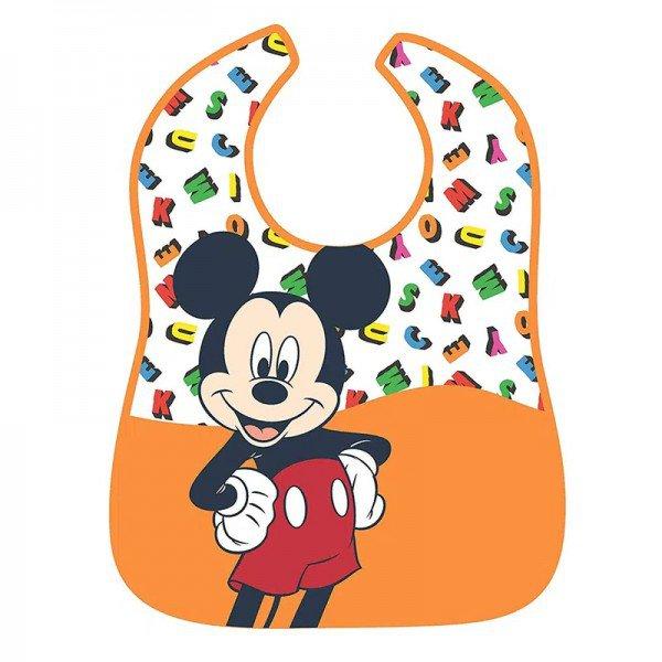 babador impermeavel disney mickey mouse alfabeto girotondo baby bt1893 frente