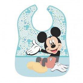 babador impermeavel disney mickey mouse bolinhas girotondo baby bt1896 frente