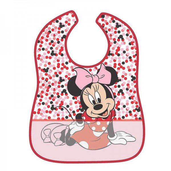 babador impermeavel disney minnie mouse bolinhas girotondo baby bt1895 frente