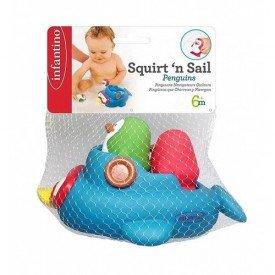 3296 brinquedo de banho pinguins