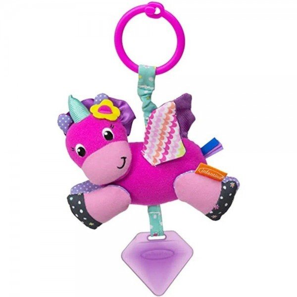 mobile com mordedor unicornio rosa infantino 1504742300