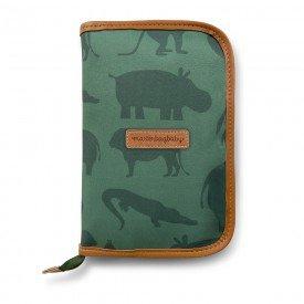porta carteira vacinacao safari verde 01