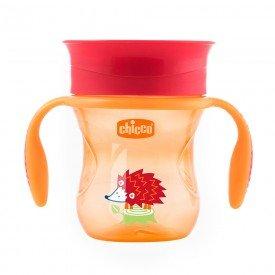 copo chicco perfect cup laranja 1