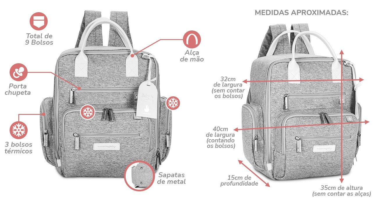Mochila Masterbag Baby Urban Safari Descrio