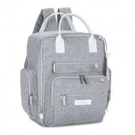mochila maternidade masterbag baby urban moletom cinza 01