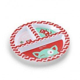 prato com divisorias multikids baby funny meal vermelho 02