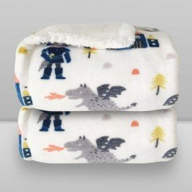 cobertor donna laco bebe plush print com sherpa knight 01