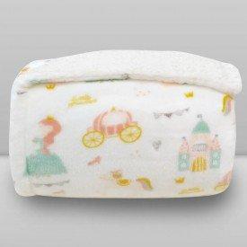 cobertor donna laco bebe plush print com sherpa princess 01