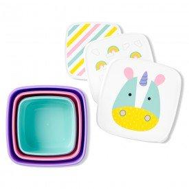 kit com 3 porta snacks zoo unicornio skip hop 01