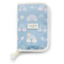porta carteira de vacinacao de bebe masterbag baby arco iris 01
