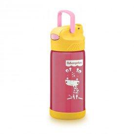 copo termico aco inox hot cold fisher price rosa 01