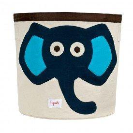 cesto organizador redondo 3 sprouts elefante azul 01