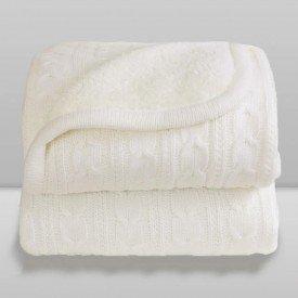 cobertor laco bebe la com sherpa marfim branco