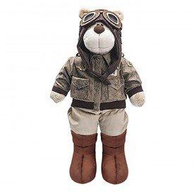 urso de pelucia bochecha aviador antigo 2 1