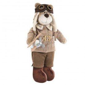 urso de pelucia bochecha aviador antigo 3 1