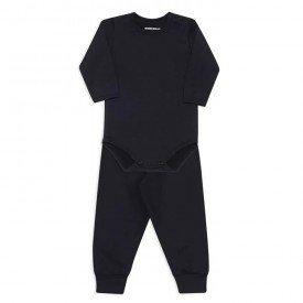 conjunto de body para bebe dedeka em thermo dry preto