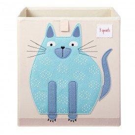 cesto organizador 3 sprouts quadrado encanto enxovais gato
