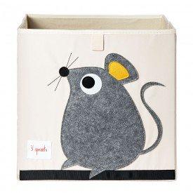 cesto organizador 3 sprouts quadrado encanto enxovais rato