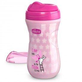 copo termico chicco shiny cup 266ml 14m brilha no escuro encanto enxovais rosa 01