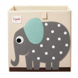 cesto organizador 3 sprouts quadrado encanto enxovais elefante