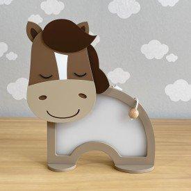 luminaria de mesa com led sem fio rh baby kids encanto enxovais cavalo 01