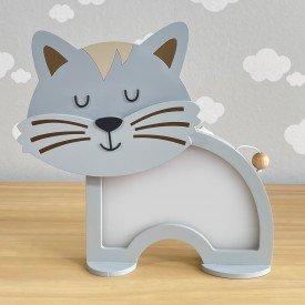 luminaria de mesa com led sem fio rh baby kids encanto enxovais gatinho 01