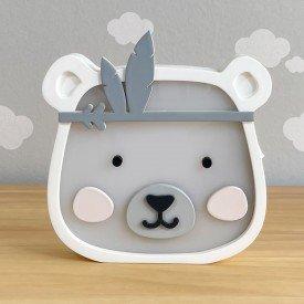 luminaria de mesa com led sem fio rh baby kids encanto enxovais urso 01